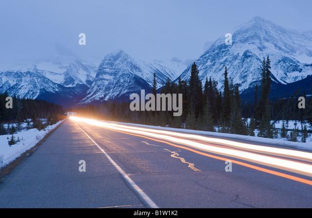 Canada Alberta Banff National Park ice fields parkway - Stock Image