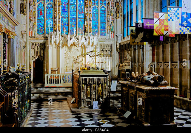 The Beauchamp Chapel in Mary's Church, Warwick, Warwickshire, England UK - Stock Image