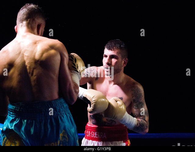 Gijon, Spain. 21st May, 2016. Marc Vidal during the boxing match against Juancho Gonzalez of Spanish national featherweight - Stock Image