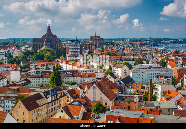 Rostock, Germany city skyline. - Stock-Bilder