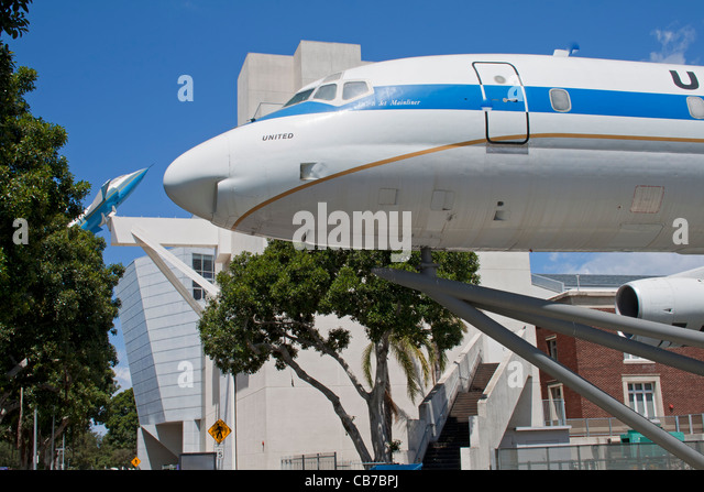 Air and Space Gallery, California Science Center, Exposition Park, Los Angeles, California - Stock Image