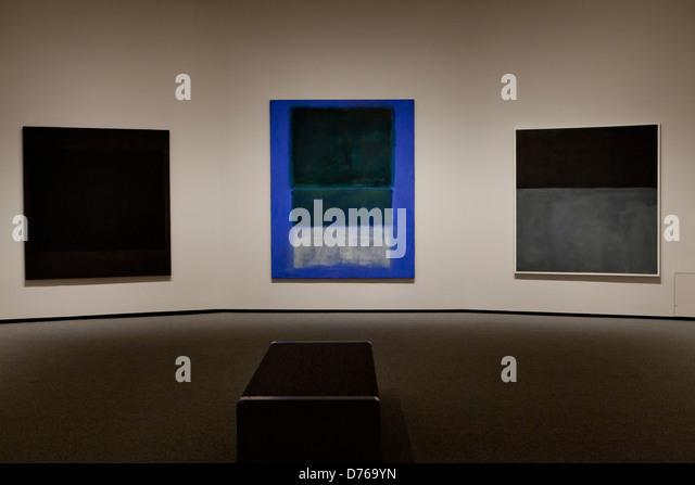 Mark Rothko paintings on display - Smithsonian National Gallery of Art, Washington, DC USA - Stock-Bilder