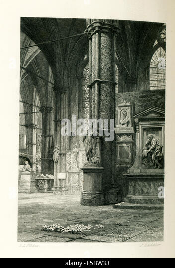 This illustration of Charles Dickens' grave is from John Forster's The Life of Charles Dickens. Dickens' - Stock Image