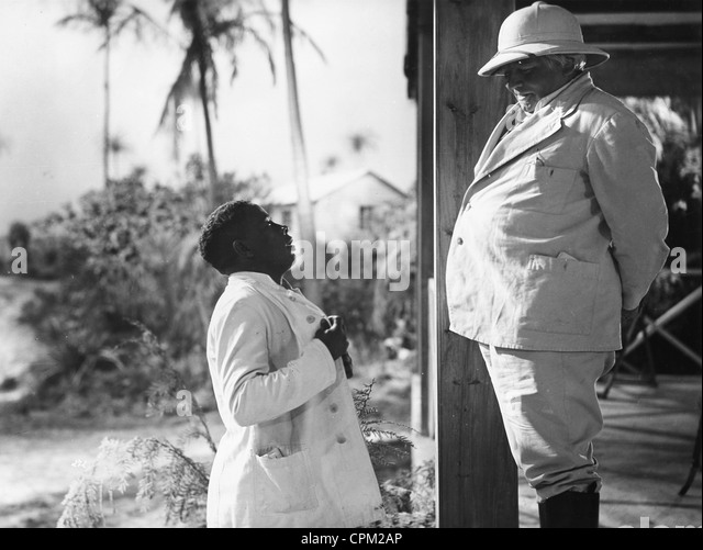 Colonial master in a film in the 1930s - Stock Image