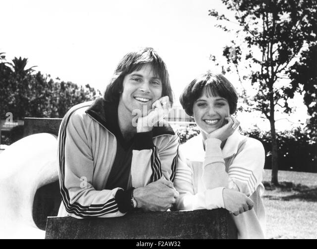 Olympic Gold Medal winners Bruce Jenner and Dorothy Hamill in April 1978. Jenner appeared on an ABC Television Special, - Stock Image