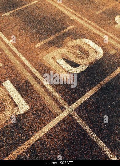 An athletics running track. - Stock Image