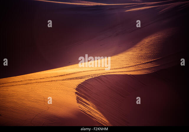 Sand dunes in the Sahara Desert, Morocco - Stock Image