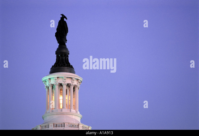 Statue of Justice US Capitol building, Washington D.C. - Stock Image