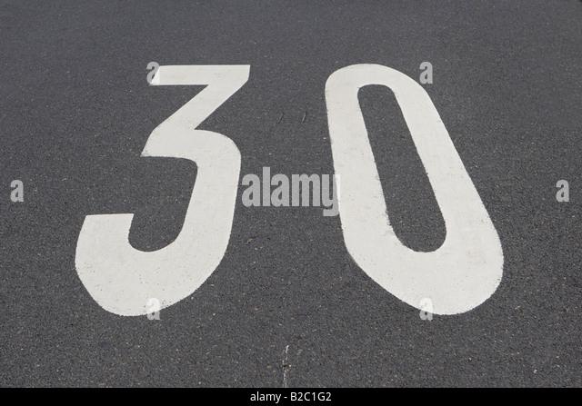 30 Km/h zone, Germany, Europe - Stock Image
