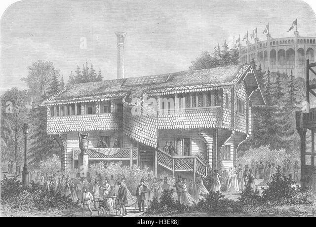 SWEDEN paris Expo Gustavus Vasa house 1867. Illustrated London News - Stock Image