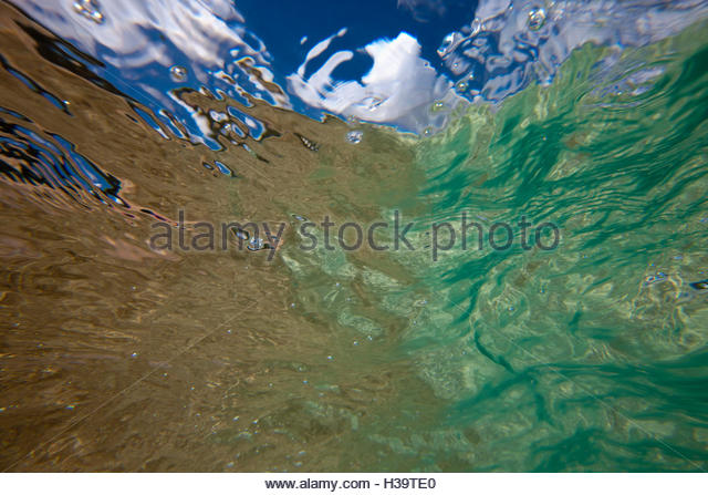 Close-up Of Ocean water - Stock Image