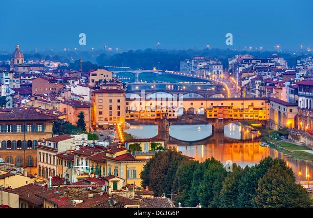 Bridges in Florence - Stock-Bilder
