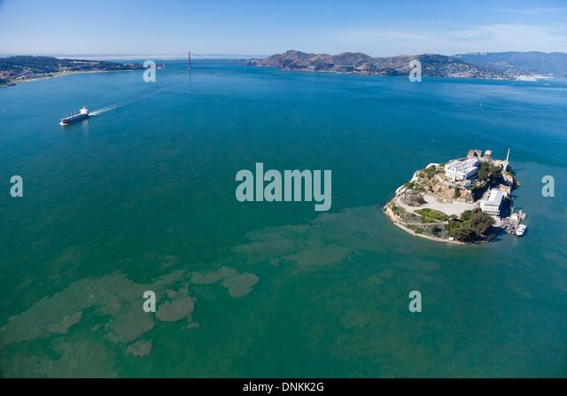 Alcatraz jail in San Francisco bay - Stock Image