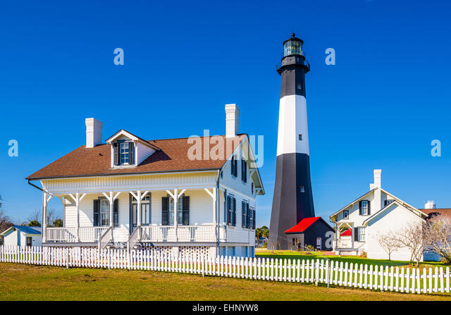 Tybee Island Light House of Tybee Island, Georgia, USA. - Stock Image
