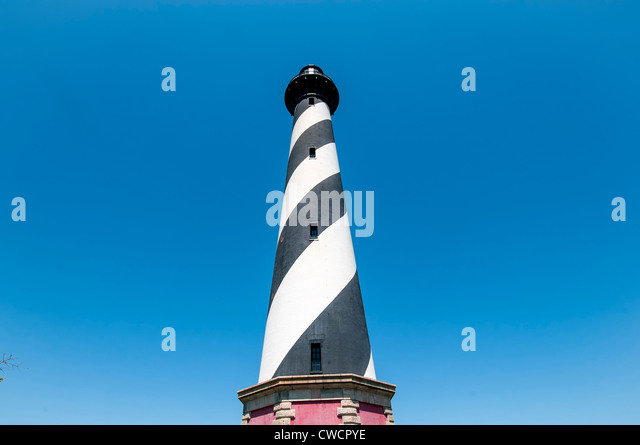 Cape Hatteras Light Station Lighthouse Tower, Cape Hatteras National Seashore, Outer Banks, North Carolina - Stock Image