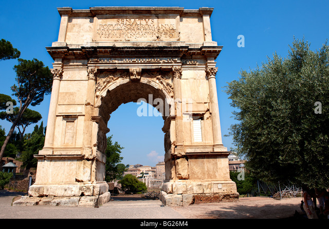 Arch Of Titus, The Forum Rome - Stock Image