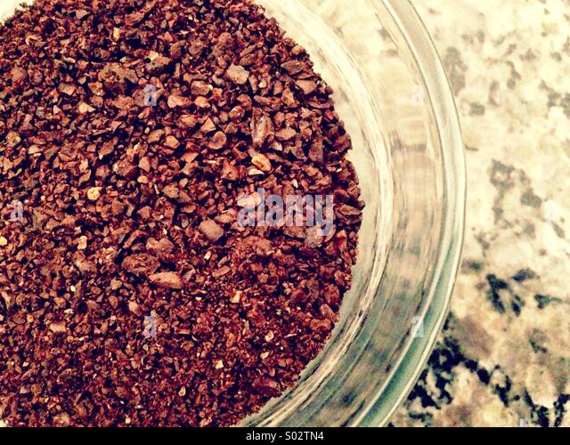 Ground coffee beans. - Stock Image