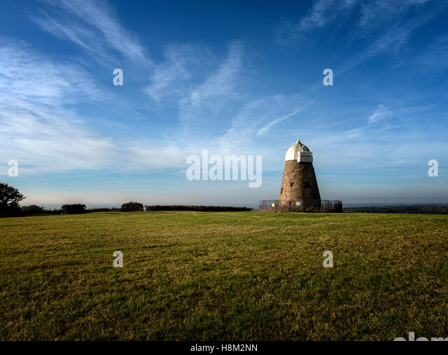 Halnaker Windmill on Halnaker Hill, the South Downs near Chichester, West Sussex - Stock Image