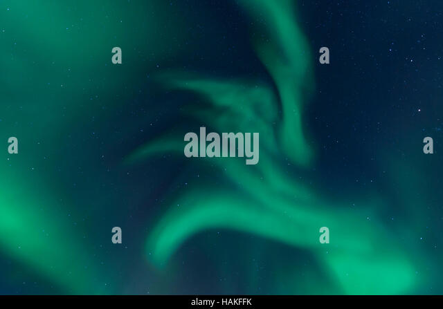 Nothern Lights in Sommaroya, Tromso, Troms, Norway - Stock Image