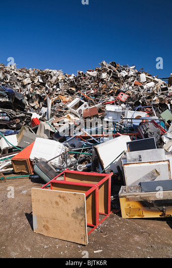 Pile of household scrap - Stock Image