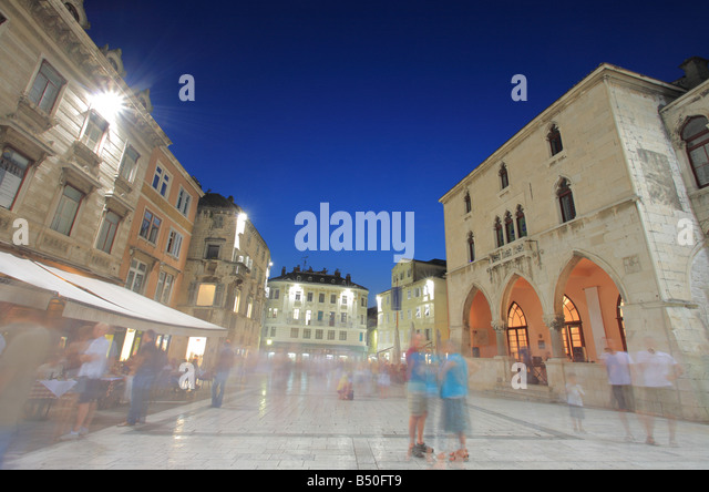 Split city square, Croatia - Stock Image