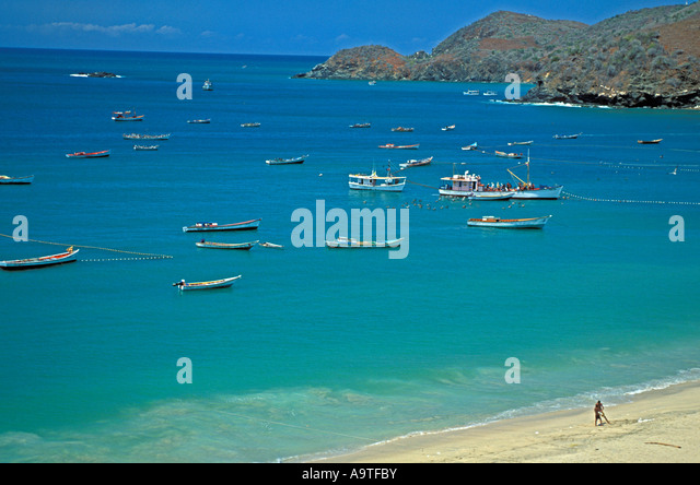 Isla Margarita island Venezuela Playa Manzanillo popular beach cruise destination - Stock Image