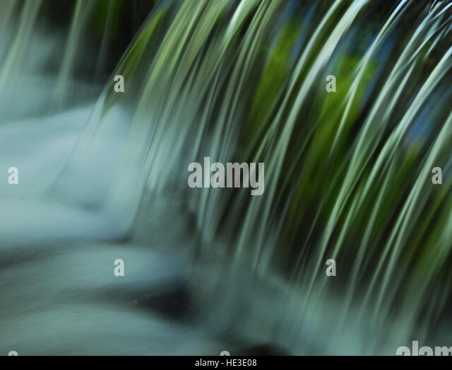 Close Up of Flowing Water - Stock Image