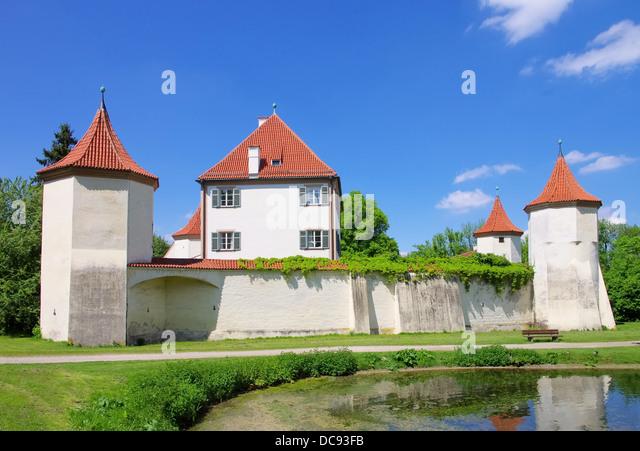 Muenchen Schloss Blutenburg - Munich palace Blutenburg 03 - Stock-Bilder