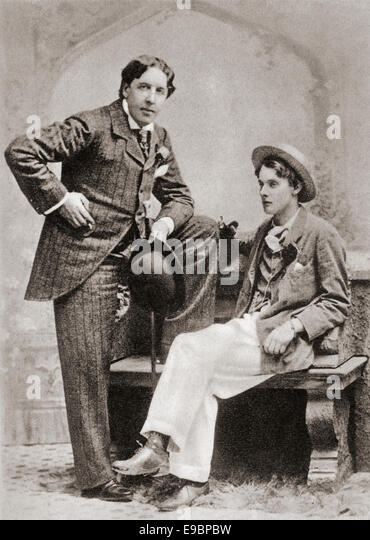 Oscar Wilde and Lord Alfred Douglas, 1894. - Stock Image
