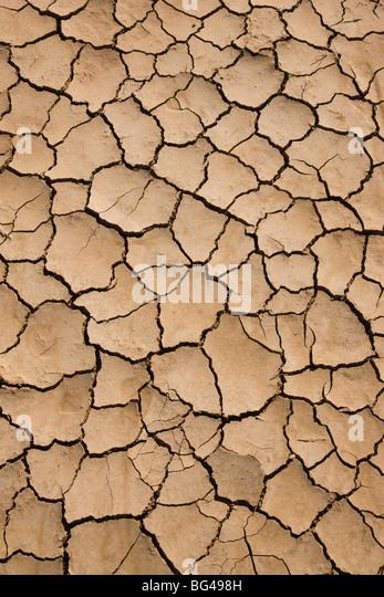 USA, California, Bombay Beach, Salton Sea area, dried lake bed - Stock Image