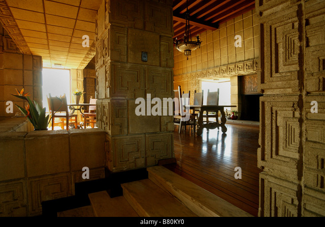 Ennis house stock photos ennis house stock images alamy for The dining room ennis