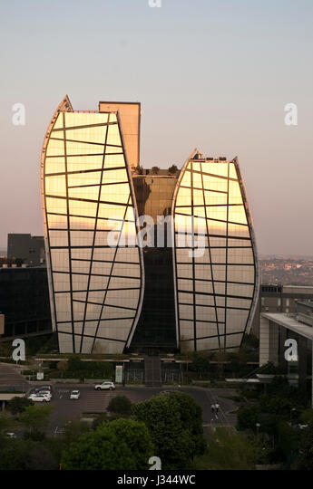 15 Alice Lane Sandton Johannesburg South Africa. Offices of ABSA bank - Stock Image