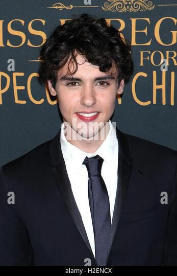 New York, USA. 26th September, 2016. Finlay MacMillan at  'Miss Peregrine's Home For Peculiar Children' - Stock Image