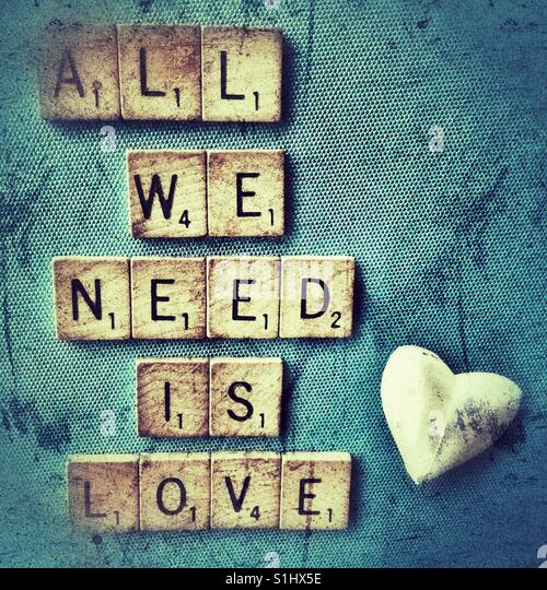 All we need is love. - Stock Image