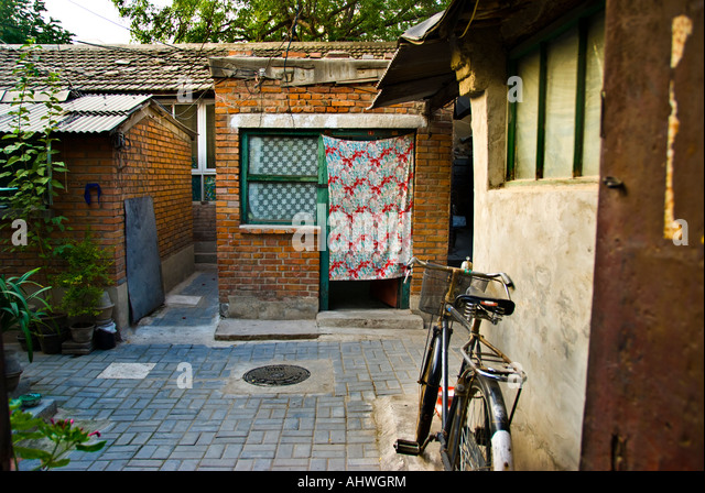 Beijing CHINA, 'Old Neighborhood' Hutong Near 'Financial Street' 'Street Scene' Inexpensive - Stock Image