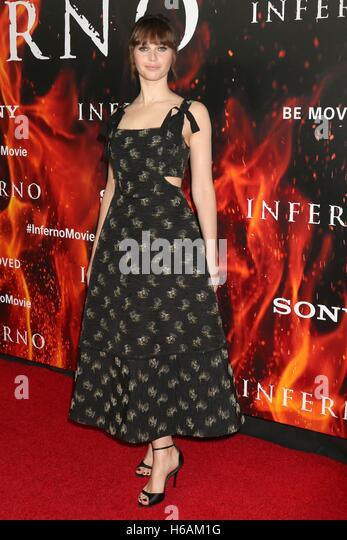 Los Angeles, CA, USA. 25th Oct, 2016. Felicity Jones at arrivals for INFERNO Premiere, Directors Guild of America - Stock Image
