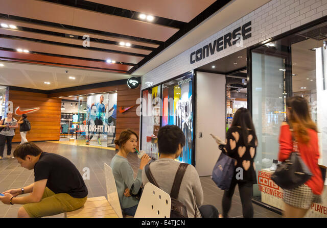 Melbourne Australia Victoria Central Business District CBD Central Dome center centre mall sale shopping fashion - Stock Image