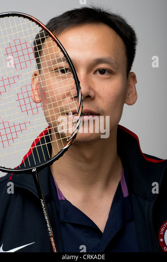 American male badminton player Tony Gunawan at the Team USA Media Summit in Dallas, TX in advance of the 2012 London - Stock Image