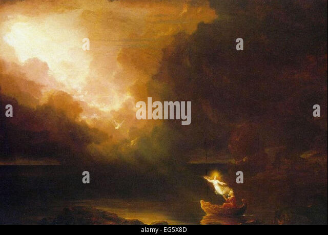Thomas Cole  The Voyage of Life, Old Age - Stock Image