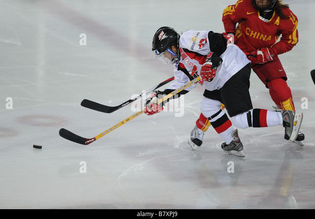 Chiaki Yamanaka JPN NOVEMBER 9 2008 Ice Hockey 2010 Vancouver Olympic Winter Games Womens Final Qualification Group - Stock Image