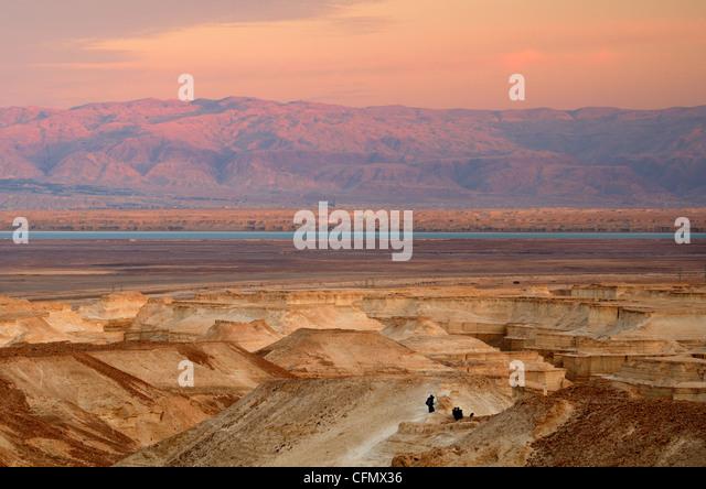 Landscape of the Judaean Desert near the Dead Sea in Israel - Stock Image