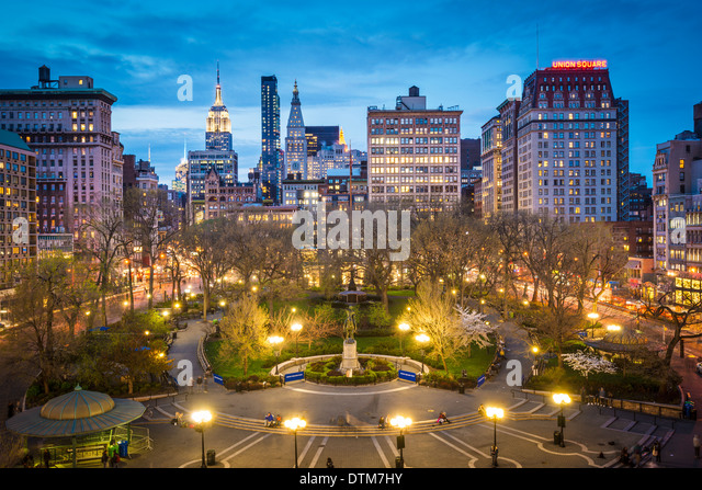 New York City at Union Square in Manhattan. - Stock Image