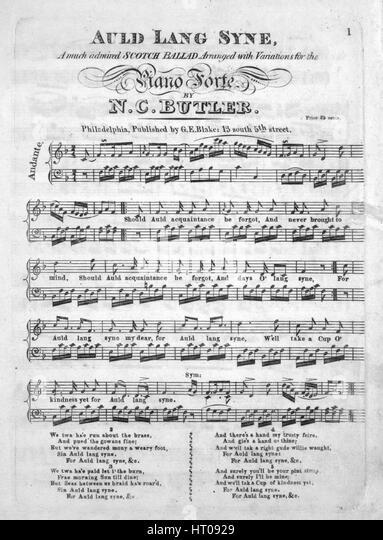 auld lang syne sheet music pdf free