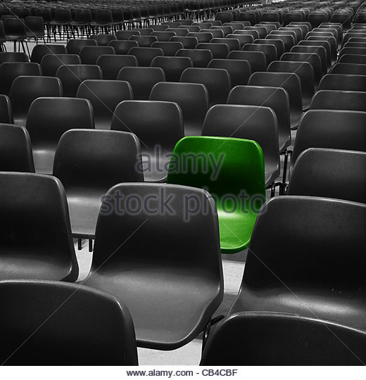 green seat - Stock Image