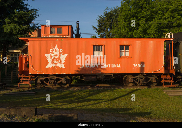 Elk203-1343 Canada, British Columbia, Fort Langley, train station - Stock Image