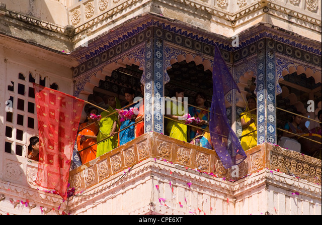 Filming at The City Palace, Udaipur, Rajasthan, India, Asia - Stock-Bilder