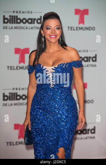 Coral Gables, FL, USA. 27th Apr, 2017. Sofia Lachapelle attends the Billboard Latin Music Awards at Watsco Center - Stock Image
