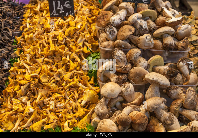 Boqueria Market Vegetables Gourmet Food Ramblas Barcelona - Stock Image
