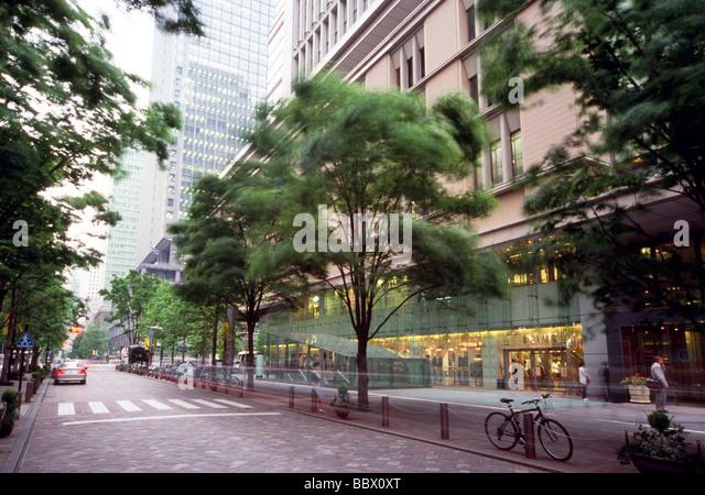 Cityscape of Marunouchi, Tokyo, Japan - Stock Image
