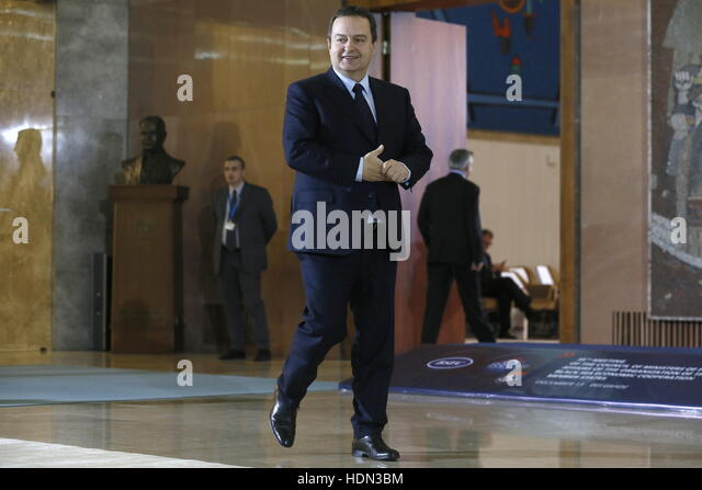 Belgrade, Serbia. 13th Dec, 2016. Serbia's Foreign Minister Ivica Dacic attends the opening of the Council of - Stock Image